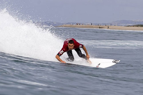 Pictured: Joel Parkinson (AUS), 28, current ASP World No. 1, will look to further cement his lead at the upcoming Hurley Pro Trestles.