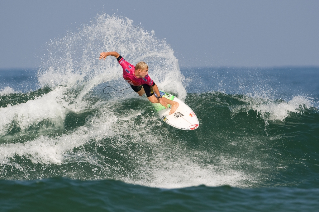 Pictured: Mick Fanning (AUS), 28, current ASP World No. 2, has claimed the 2009 Quiksilver Pro France presented by Orange. The win moves the Australian even closer to Gold Coast stablemate, Joel Parkinson (AUS), 28, in the hunt for the 2009 ASP World Title.