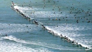 Record setting wave at Muizenberg in 2006 - Photo: Jim McLagan / Argus
