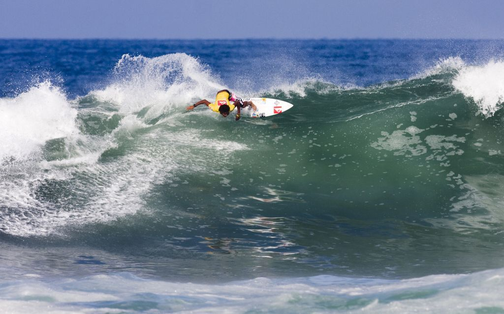 Pictured: Michael February (Kommetjie) in action at the last ISA World Junior championships in Ecuador earlier this year