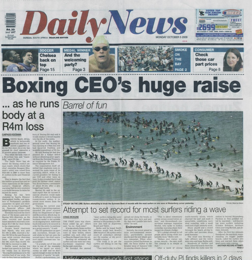 Daily news - Earthwave makes front page