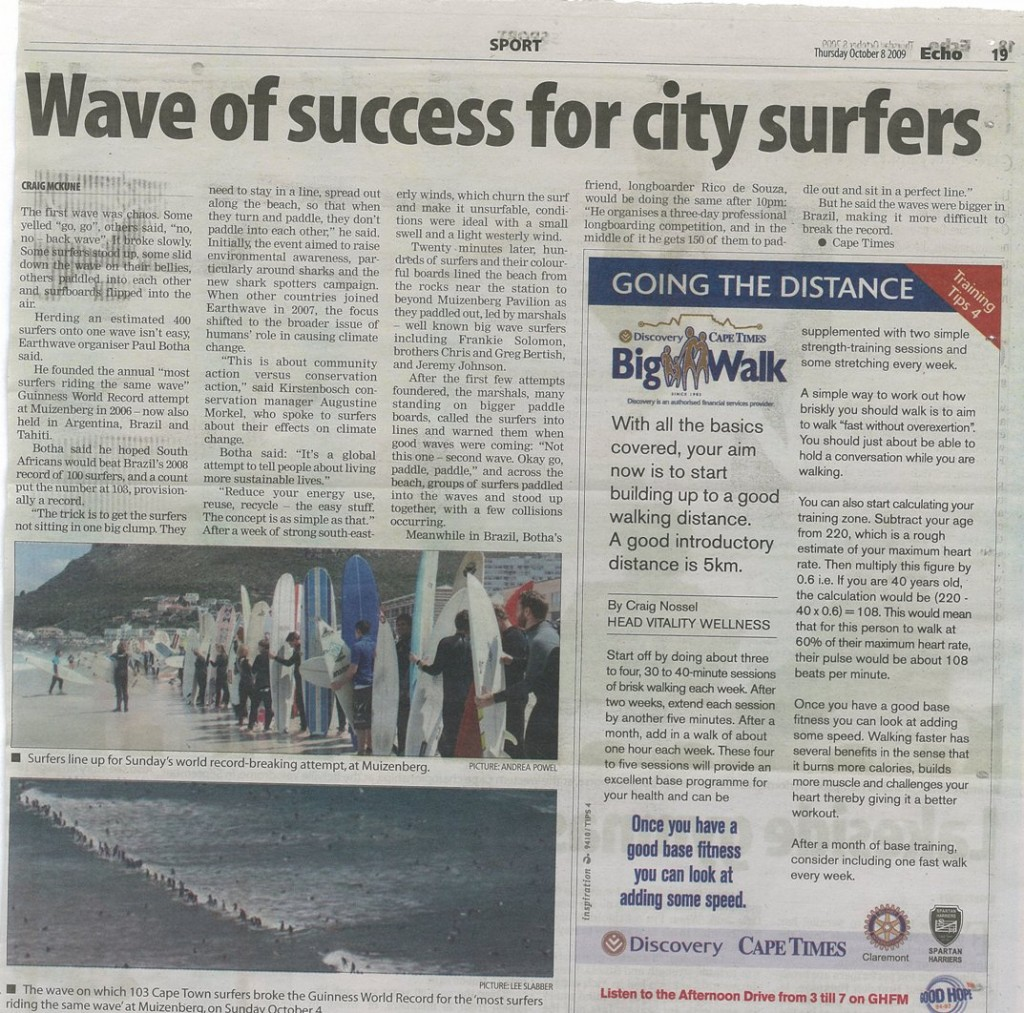 Wave of Success for city surfers