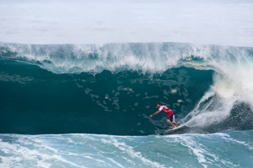 Pictured: Andy Irons (HAW), 31, former three-time ASP World Champion and former four-time Pipe Masters Champion, saw a welcomed returned to form today at the Billabong Pipeline Masters. Credit:  ASP/ CI/ CESTARI via GETTY IMAGES