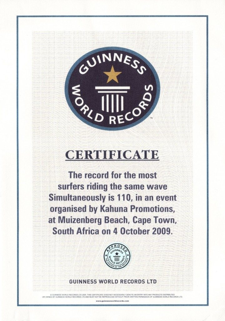 Official Guinness World Record Certificate