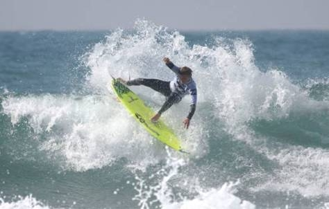 Pictured: Billabong's Dale Staples (St Francis Bay) shows the progressive surfing style that has made him one of the top contenders for the Pro Junior men's title in the Billabong Junior Series. Photo courtesy Billabong