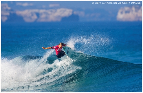 Pictured: Paige Hareb (NZL), 19, will take on Melanie Bartels (HAW), 27, and Lee Ann Curren (FRA), 20, in the opening round of the TSB Bank Women's Surf Festival. Credit: © ASP / SCHOLTZ
