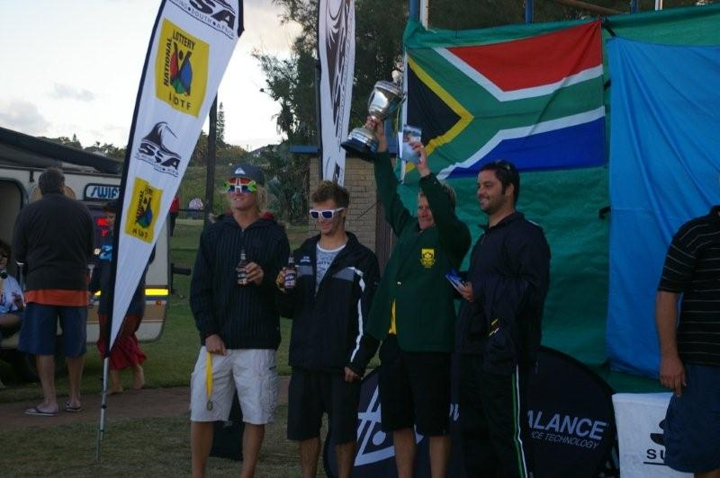 GREG EMSLIE, 2010 SA MENS CHAMPION, AND FELLOW FINALISTS