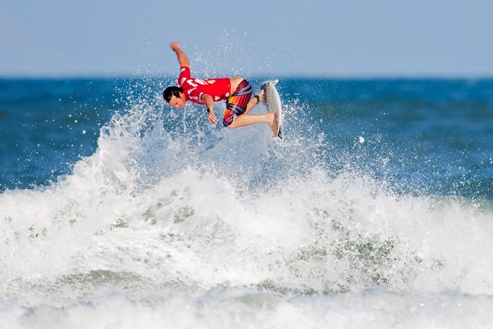 Pictured: Jordy Smith in action during the last event on the ASP World Tour in May where he climbed to No. 2 on the ASP World Title Race rankings Photo: ASP / Kirstin