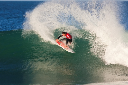 Pictured: ASP World No. 2 Jordy Smith (Durban, South Africa) stamped his authority on his round 3 heat, defeating ASP World Tour rookie Nate Yeomans (USA) to advance to the last 16 in the Billabong Pro J-Bay. Image Credit:  ASP/ Kirstin Scholtz