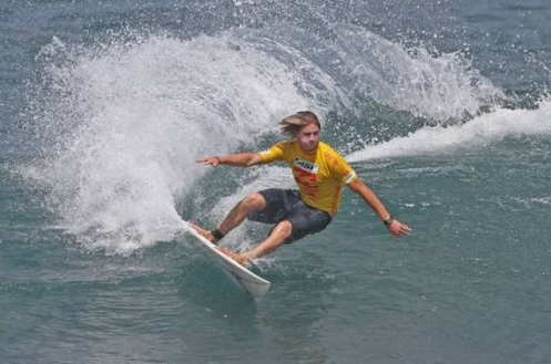 Pictured: Beyrick de Vries (Umhlanga) cuts back at Keramas on his way to fifth place in the Billabong Pro Junior Bali. Image Credit: ASP Australasia / Steve Robertson