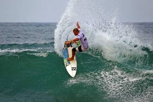 Dale Staples (St Francis Bay) performs a fins-free tail-slide on his way to victory in the final of the ASP Grade-1 rated Billabong Pro Junior mens event at Westbrook on the KZN Dolphin Coast in April. Photo: Billabong / Patterson