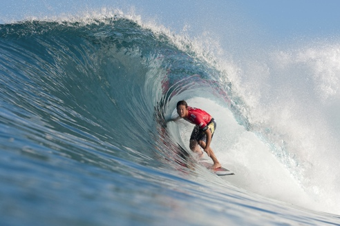 Pictured: Jordy Smith finished fifth at the season ending Billabong Pipe Masters in Memory of Andy Irons Champion Credit: ASP/Cestari