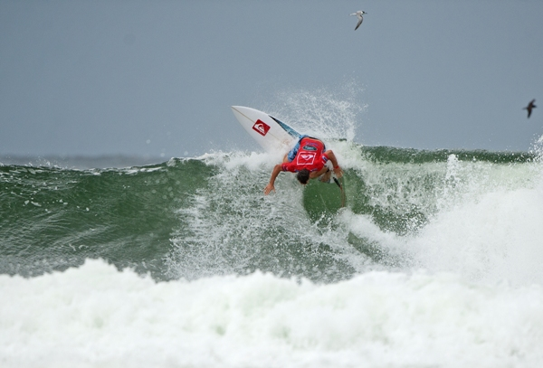 Travis Logie (Durban) in action at the Quiksilver Pro Gold Coast in Australia yesterday where the Durbanite finished 9th overall  Photo: ASP / Hayden-Smith