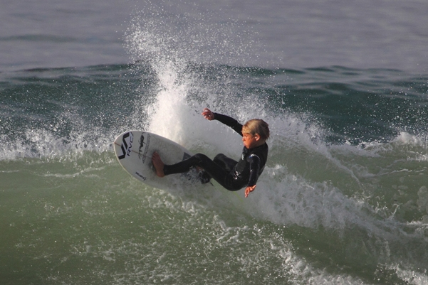 York van Jaarsveldt, 10, from Kommetjie will be one of the redhot young surfers competing in the RVCA Junior Series event at Jeffreys Bay from 22-24 March  Photo: Ross Turner