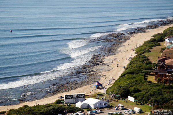 The Lower Point at Jeffreys Bay will be the venue for a bigger and better edition of the RVCA Junior Series in 2014  Photo: Richard Johnson