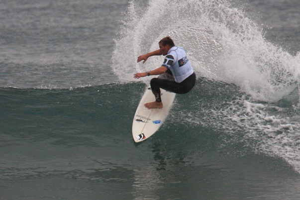 Former multiple SA champion and reigning ISA World Masters champion Greg Emslie representing Border was one of the standout performers on Day 1 of the Cool Shoe SA Surfing Championships in Durban today  Photo: © Karen / D-Vine Images