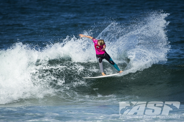 Bianca Buitendag shows the form that has seen her clinch the top seeding in the HD Women's World Junior Championships in Brazil this week  Credit: ASP Europe / Poullenot