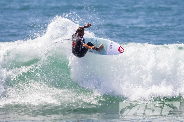 Travis Logie (seen here on his way to 5th place in 2013) will be determined to post another good result at the 2014 Hurley Pro at Lower Trestles Image: ASP / Kirstin Scholtz