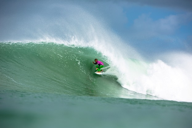Matt McGillivray (EP) was crowned the South African U17 Boys Champion in the perfect waves at Jeffreys Bay in 2013 and will be going for his second successive title at this year's Hurley SA Junior Champs Photo: Alan van Gysen