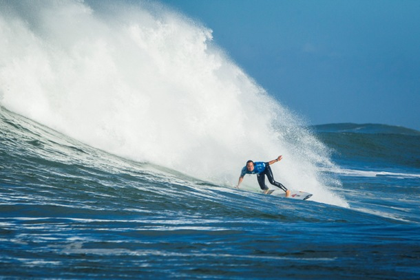 Jordy Smith (Durban) in action during the Quiksilver Pro France where he finished third overall  Image: ASP / Poullenot