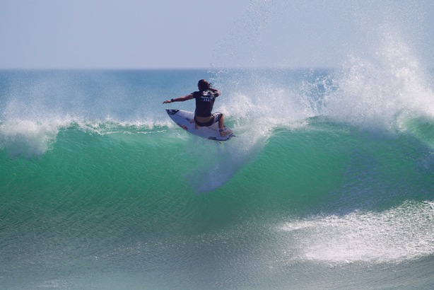Jordy Smith (ZAF) in action during his victory at Trestles in California last year, his fourth Championship Tour career title Image: WSL / Kirstin Scholtz