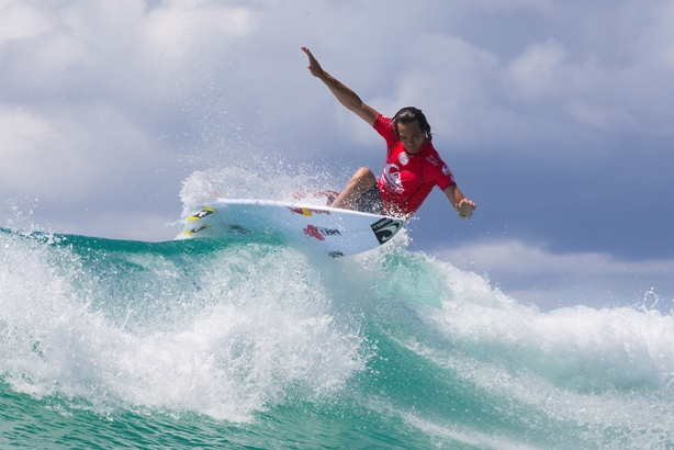 Jordy Smith (ZAF) finished 9th in the Quiksilver Pro Gold Coast in Australia today   Image: © WSL / Swilly