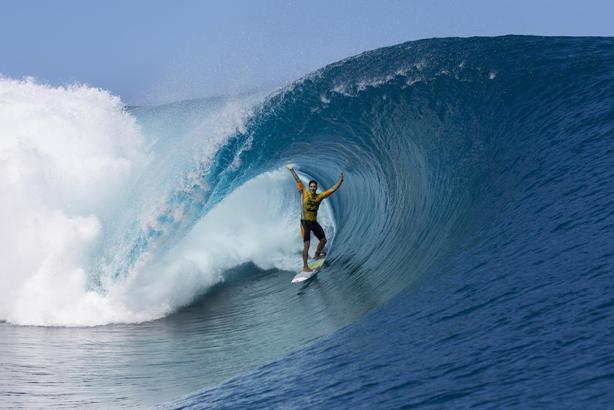 Gabriel Medina will be hoping for rides like this at the upcoming 2015 Billabong Pro Tahiti  Photo: WSL / Kirstin