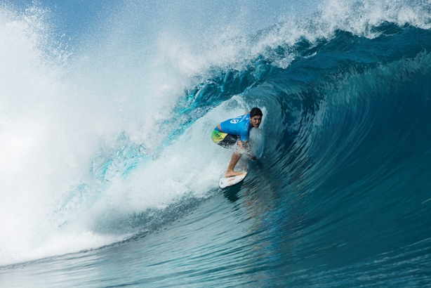 Gabriel Medina shows the form that earned him victory over John John Florence in Tahiti  Photo: WSL / Robertson