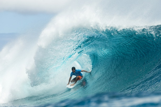 Jeremy Flores captured his second elite tour victory at the Billabong Pro Tahiti Photo: WSL / Robertson