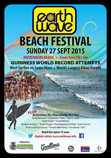 2015 Earthwave Beach Festival poster
