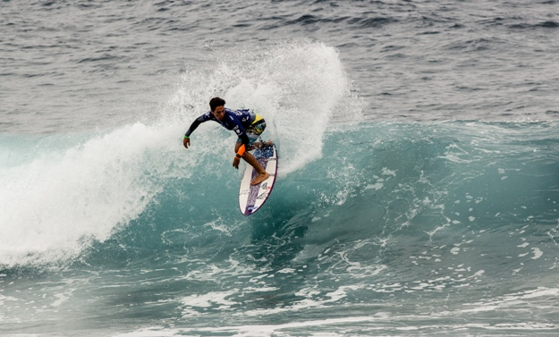 Sebastian Williams in action at the VSSLA ISA World Junior Surfing Championship in Oceanside, California on ThursdayPhoto: ISA / Chris Grant