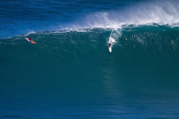 Grant 'Twiggy' Baker, seen here at Jaws, is on his way to Hawaii to compete in the Quiksilver in Memory of Eddie Aikau big wave event at Waimea Bay on Wednesday  Image: Nick Ricca