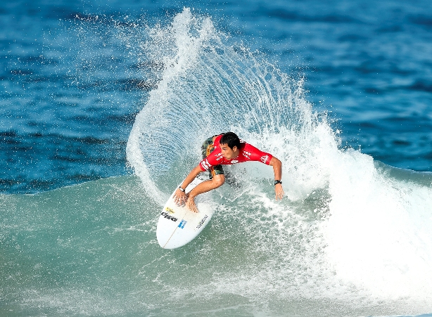 Mihimana Braye (PYF) was one of the top performers among the elite international field in action at the 2016 Ballito Pro on MondayPhoto: WSL / Cestari