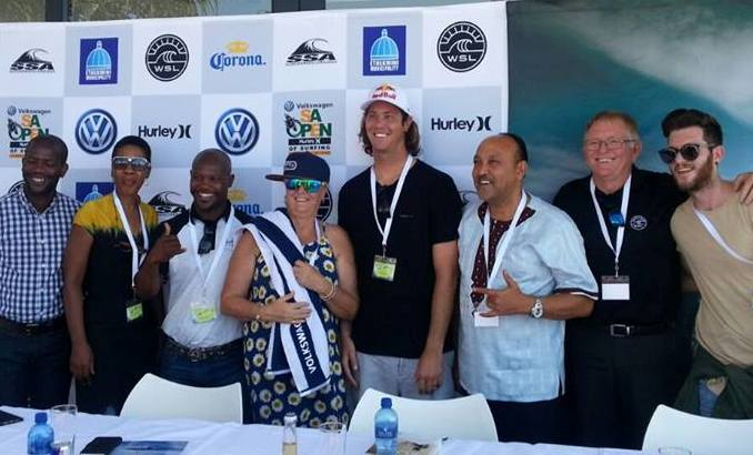 The inaugural Volkswagen SA Open of Surfing pres. by Hurley was launched at a function in Durban on Tuesday Photo: Luellen Smith