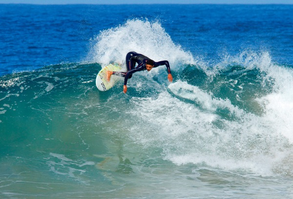 Joshe Faulkner (Jeffreys Bay) will be competing in both the men's and junior men's events in the Nelson Mandela Bay Surf Pro in Port Elizabeth  Photo: Grant Beck