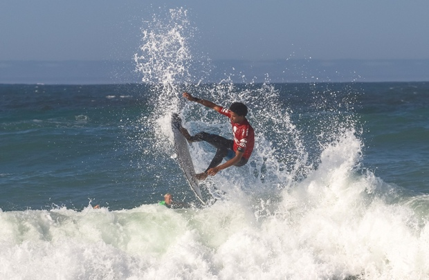 Michael February (Kommetjie) is the top seed for the Buffalo City Surf Pro at Nahoon Reef in East London which starts on Saturday Photo: Ian Thurtell